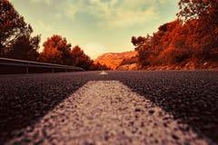 Horizontal rural d'été avec la route Photo stock