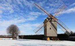 Horizontal rural de l'hiver Images libres de droits