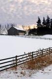 Horizontal rural de l'hiver image libre de droits