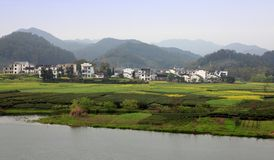 Horizontal rural de paysage photographie stock