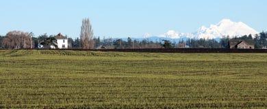 Horizontal rural de vallée de Skagit Image stock