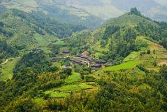 Horizontal rural des terrasses photo libre de droits