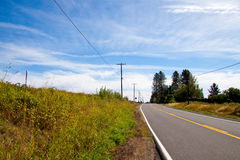 Horizontal Rural Highway Royalty Free Stock Photos