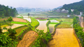Horizontal rural, Hunan Xiangxi, Chine Photographie stock libre de droits
