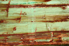 Horizontal rust. A horizontal rust texture in green Stock Photography