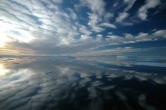 Horizontal rêveur antarctique Image stock