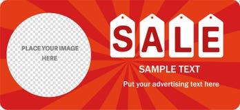 Horizontal sale banner. Royalty Free Stock Photo