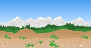 Horizontal sans joint de montagne Photographie stock