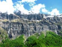 Horizontal sauvage de cascades à écriture ligne par ligne Image libre de droits