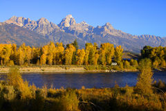 Horizontal scénique dans Tetons grand Photo stock