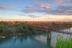 Horizontal scénique de fleuve Photo libre de droits