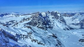 Horizontal scénique de l'hiver Photos libres de droits
