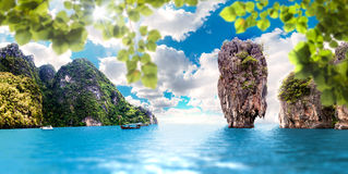 Horizontal scénique Paysage marin photographie stock