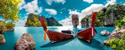 Horizontal scénique Paysage marin de Phuket photos stock