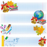 Horizontal school banners Royalty Free Stock Photo