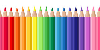 Horizontal seamless background with colored pencil Royalty Free Stock Image