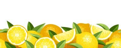 Horizontal seamless background with lemons. Stock Image
