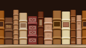 Horizontal seamless background with old books. Stock Photo