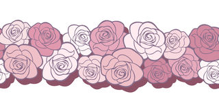 Horizontal seamless background with roses. Stock Images