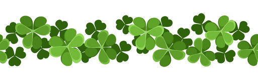 horizontal seamless background with shamrock. Royalty Free Stock Images
