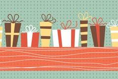 Horizontal seamless birthday pattern Stock Photo