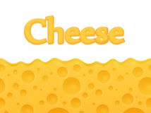 Horizontal seamless Cheese background with Copy space at top - Vector Cartoon pattern. Horizontal seamless Cheese background with Copy space at top. Vector stock illustration
