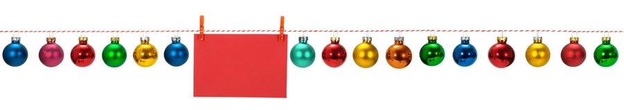 Horizontal seamless Christmas border Stock Image