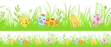 Horizontal seamless Easter background royalty free illustration