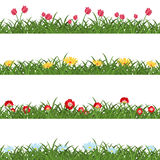 Horizontal Seamless Floral Borders Royalty Free Stock Photography