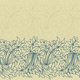 Horizontal seamless floral pattern Royalty Free Stock Image
