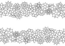Horizontal seamless flower border Royalty Free Stock Image