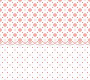 Horizontal seamless geometric pattern with abstract flower ornament. Vector Illustration. Horizontal seamless geometric pattern with abstract flower ornament Stock Images