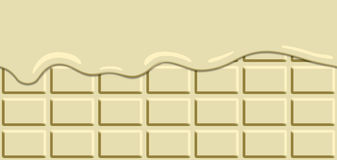 Horizontal seamless melted chocolate bar background. stock illustration
