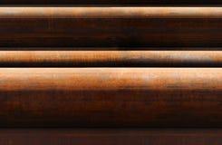 Horizontal seamless pattern of rusty pipes Stock Image