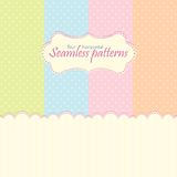 Horizontal seamless patterns. In pastel colors Royalty Free Stock Image