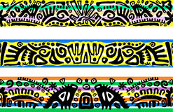 Horizontal seamless patterns Royalty Free Stock Images