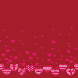 Horizontal seamless texture with hearts Royalty Free Stock Images