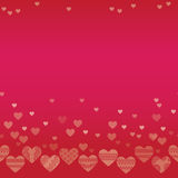 Horizontal seamless texture with hearts. Background on Valentine's Day stock illustration