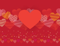 Horizontal seamless texture with hearts Stock Images