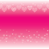 Horizontal seamless texture with hearts Stock Photography
