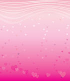 Horizontal seamless texture with hearts. Background on Valentine's Day vector illustration