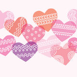 Horizontal seamless texture with hearts. Background on Valentine's Day royalty free illustration