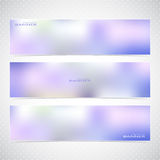 Horizontal Set of Banners with Multicolored Blured Royalty Free Stock Photos