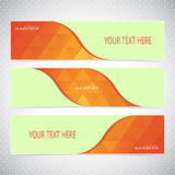Horizontal Set of Banners with Multicolored Blured Stock Images