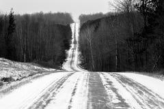 Horizontal Shady Lane Ave. Black and white horizontal photo of a steep road Shady Lane Ave Stock Photos