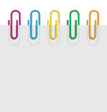 Horizontal sheet paper clips Royalty Free Stock Photo