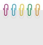 Horizontal sheet paper clips Royalty Free Stock Photo