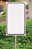Horizontal Shot Of Blank Commercial Real Estate Sign Royalty Free Stock Photo