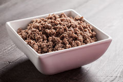 Horizontal shot of cooked ground meat Royalty Free Stock Images
