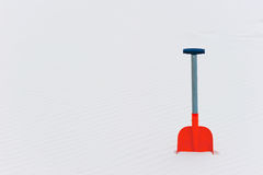 Horizontal shot of orange shovel Stock Image